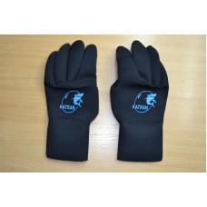 Перчатки пятипалые 2мм. KATRAN нейлон/нейлон С ОБТЮРАЦИЕЙ для подводной охоты, дайвинга и плаванья